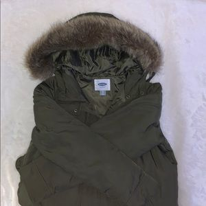 Old Navy army-green winter coat